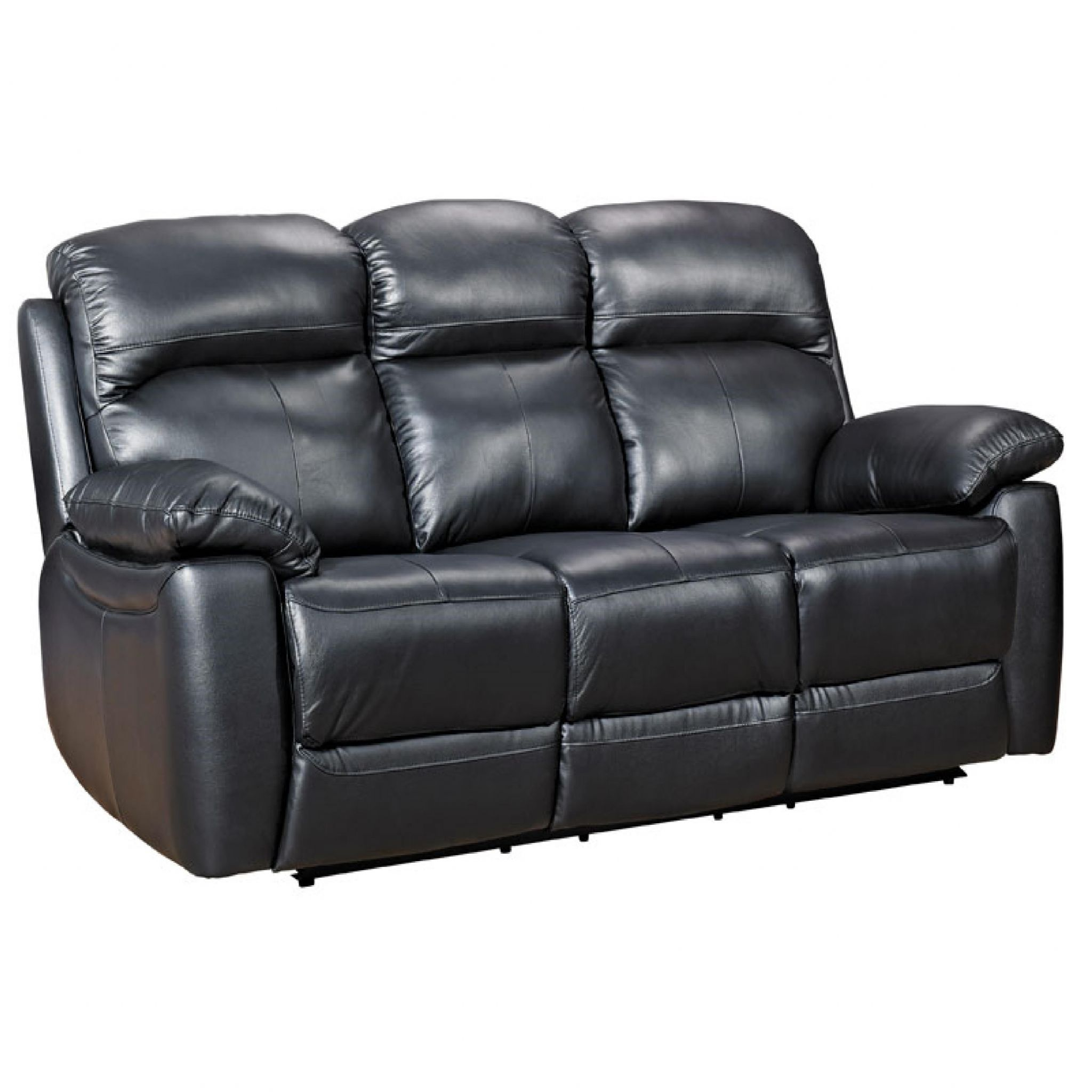 Picture of: Home Essential Tsa 303 Black Leather Sofa